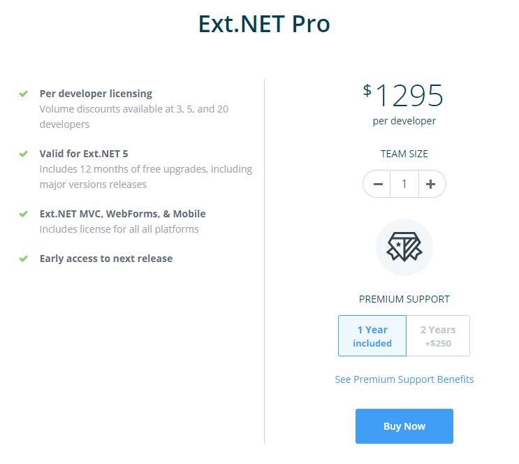 pricing page screenshot