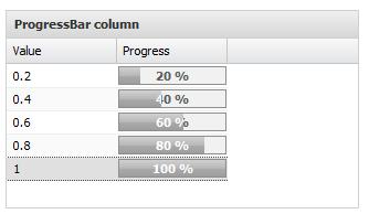 Ext.NET GridPanel with ProgressBarColumn example