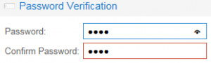 Password TextField with and without RemoveShowPasswordTrigger option set.
